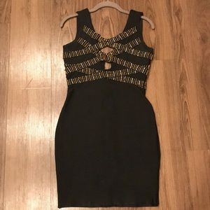 Gold Label by WOW Couture Black and Gold Dress